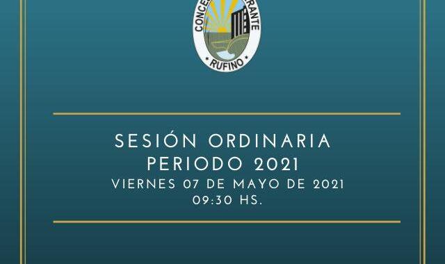Sesión Ordinaria correspondiente al día 7 de Mayo del 2021