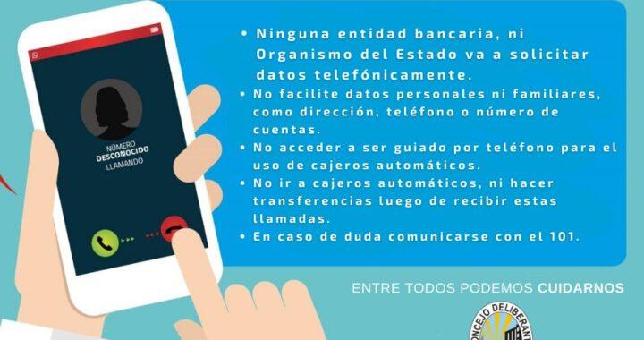 PREVENCIÓN DE ESTAFAS TELEFÓNICAS