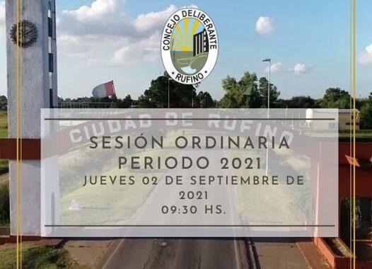 SESIÓN ORDINARIA, CORRESPONDIENTE AL DÍA 02 DE SEPTIEMBRE DE 2021